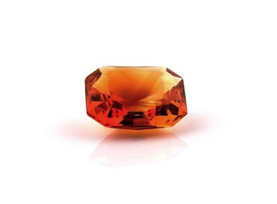 citrín 18.38ct brownish orange s IGI certifikátem