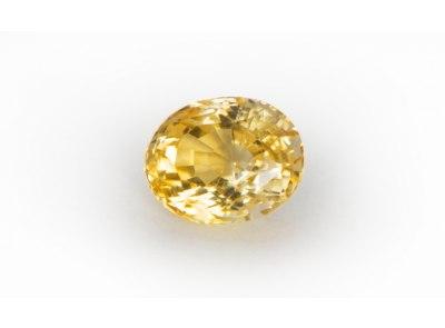 citrín 6.94ct orangy yellow s IGI certifikátem