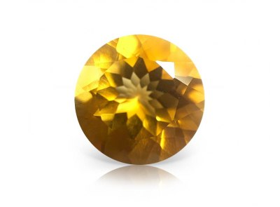 citrín 8.44ct yellowish orange s IGI certifikátem