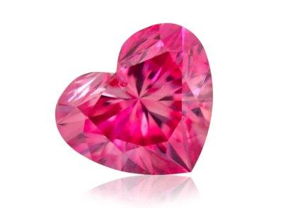 0.25ct 2P (Fancy Vivid Pink)/SI2 s ARG certifikátem