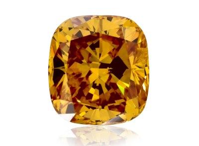 0.31ct Fancy Vivid Yellow-Orange/SI2 s GIA certifikátem