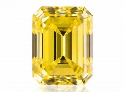 1.01ct Fancy Intense Yellow/VS1 s GIA a ALROSA certifikátem