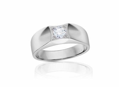 pánský zlatý prsten s diamantem 0.50ct G/SI1 s GIA certifikátem