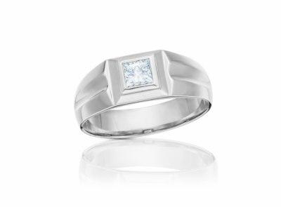 pánský zlatý prsten s diamantem 0.57ct E/VS2 s IGI certifikátem