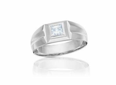 pánský zlatý prsten s diamantem 0.71ct E/VVS2 s HRD certifikátem