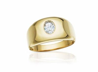 pánský zlatý prsten s diamantem 0.90ct L/VS1 s GIA certifikátem