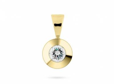 zlatý přívěsek s diamantem 0.177ct J/VVS2 s IGI certifikátem