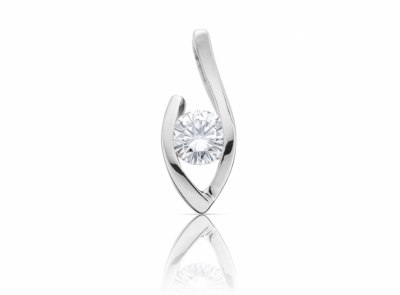 zlatý přívěsek s diamantem 0.30ct F/VVS2 s GIA certifikátem