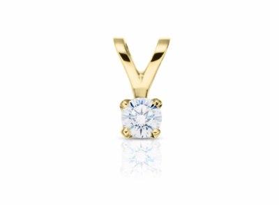 zlatý přívěsek s diamantem 0.30ct G/VVS1 s GIA certifikátem