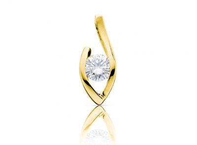 zlatý přívěsek s diamantem 0.33ct H/VVS2 s GIA certifikátem