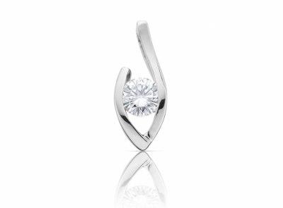 zlatý přívěsek s diamantem 0.35ct G/IF s GIA certifikátem