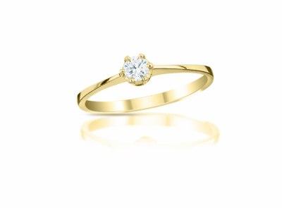 zlatý prsten s diamantem 0.122ct F/VS2 s IGI certifikátem