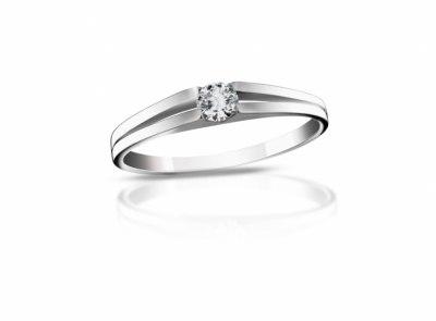 zlatý prsten s diamantem 0.127ct F/VS1 s IGI certifikátem