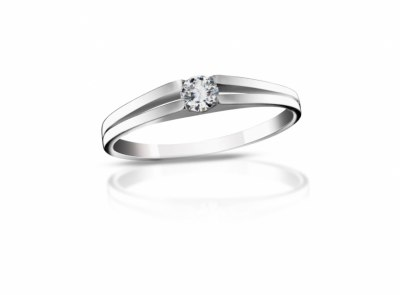 zlatý prsten s diamantem 0.135ct E/SI1 s IGI certifikátem