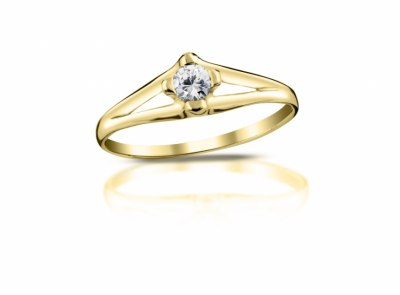 zlatý prsten s diamantem 0.15ct G/VS1 s EGL certifikátem