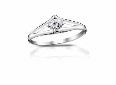 zlatý prsten s diamantem 0.165ct H/VS2 s IGI certifikátem