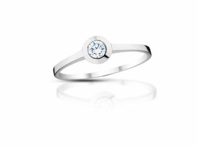 zlatý prsten s diamantem 0.166ct G/VS1 s IGI certifikátem
