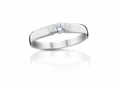 zlatý prsten s diamantem 0.171ct G/VVS2 s IGI certifikátem