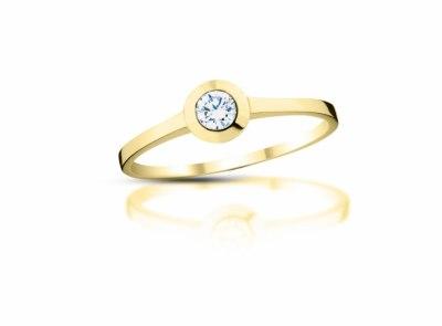 zlatý prsten s diamantem 0.17ct H/SI1 s EGL certifikátem