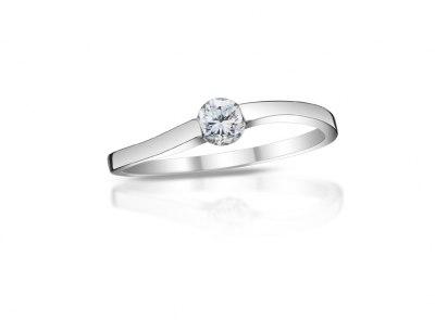 zlatý prsten s diamantem 0.21ct E/VS2 s EGL certifikátem