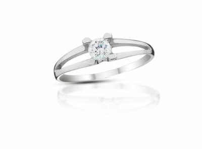 zlatý prsten s diamantem 0.21ct F/VVS2 s EGL certifikátem