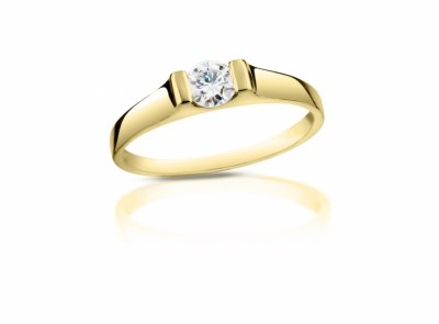 zlatý prsten s diamantem 0.21ct G/VVS1 s EGL certifikátem