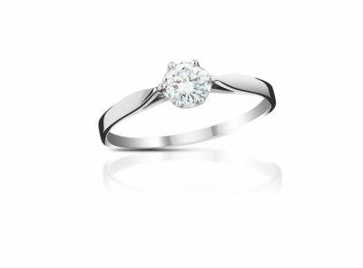 zlatý prsten s diamantem 0.23ct E/VS2 s IGI certifikátem