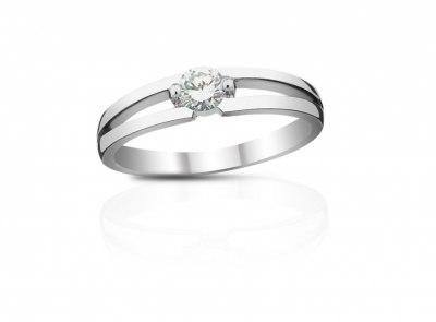 zlatý prsten s diamantem 0.243ct G/VS1 s IGI certifikátem