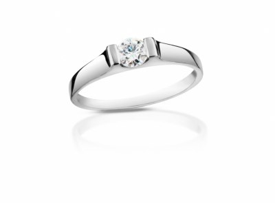 zlatý prsten s diamantem 0.24ct G/VVS2 s IGI certifikátem