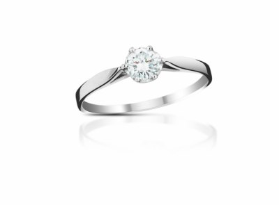 zlatý prsten s diamantem 0.25ct E/VVS2 s IGI certifikátem