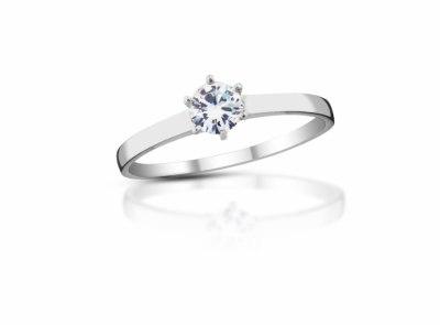 zlatý prsten s diamantem 0.25ct F/VS1 s EGL certifikátem