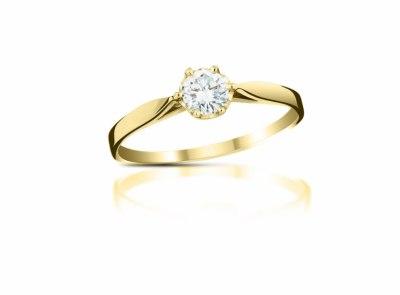 zlatý prsten s diamantem 0.25ct H/VVS1 s IGI certifikátem