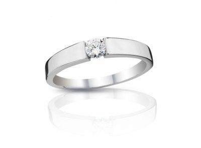 zlatý prsten s diamantem 0.25ct I/VVS1 s IGI certifikátem