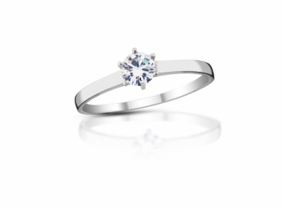 zlatý prsten s diamantem 0.26ct F/VVS2 s IGI certifikátem