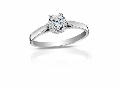 zlatý prsten s diamantem 0.30ct D/SI1 s HRD certifikátem