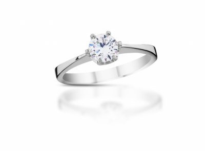 zlatý prsten s diamantem 0.30ct D/VS2 s HRD certifikátem