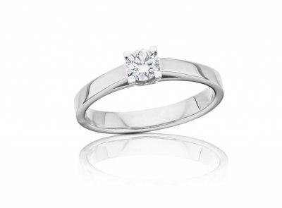 zlatý prsten s diamantem 0.30ct F/VS2 s GIA certifikátem