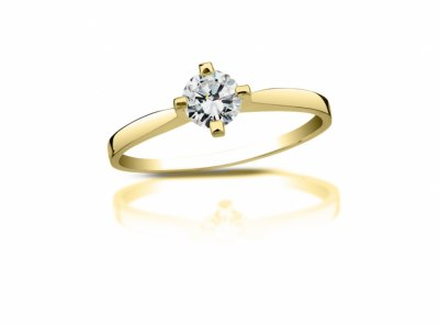 zlatý prsten s diamantem 0.30ct I/SI1 s IGI certifikátem