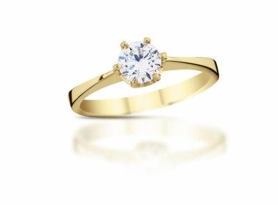 zlatý prsten s diamantem 0.30ct K/VVS1 s GIA certifikátem