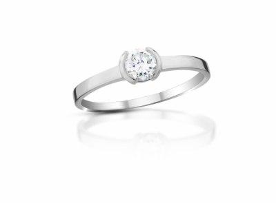 zlatý prsten s diamantem 0.317ct E/SI1 s IGI certifikátem