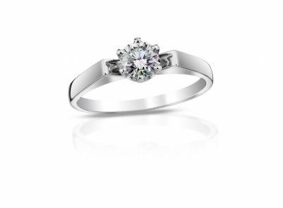 zlatý prsten s diamantem 0.31ct F/VS2 s GIA certifikátem