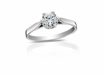 zlatý prsten s diamantem 0.31ct H/IF s GIA certifikátem