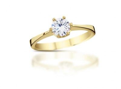 zlatý prsten s diamantem 0.31ct K/SI1 s HRD certifikátem