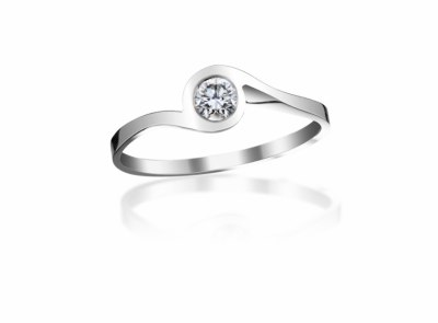 zlatý prsten s diamantem 0.31ct N/SI1 s EGL certifikátem