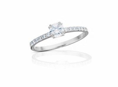 zlatý prsten s diamantem 0.324ct E/VVS2 s IGI certifikátem