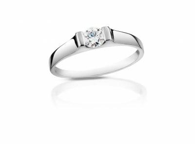 zlatý prsten s diamantem 0.33ct D/VS2 s GIA certifikátem