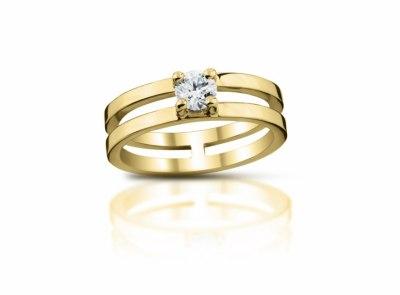 zlatý prsten s diamantem 0.34ct G/SI2 s EGL certifikátem