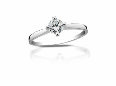 zlatý prsten s diamantem 0.34ct H/SI2 s EGL certifikátem
