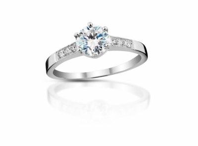 zlatý prsten s diamantem 0.35ct D/SI1 s GIA certifikátem