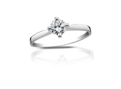 zlatý prsten s diamantem 0.35ct F/SI2 s EGL certifikátem